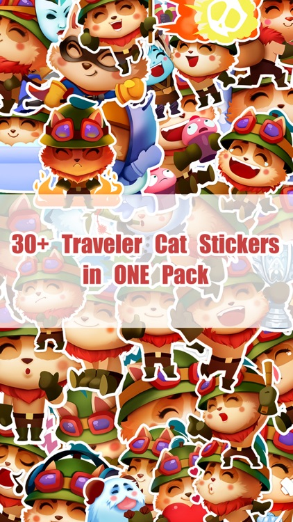 Traveler Cat Stickers Pack for iMessage