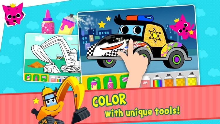 PINKFONG Car Town: Wheels on the bus and more! screenshot-4