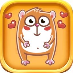 Cute Hamster Stickers - Hamster Emoji Sticker Pack