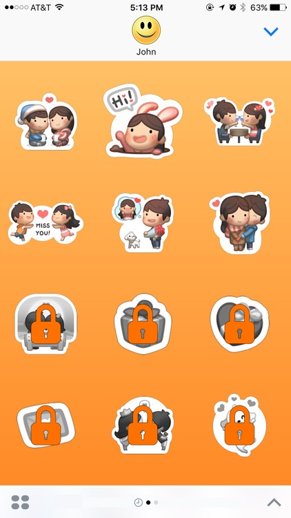 Girl Lolo with Boyfriend Stickers