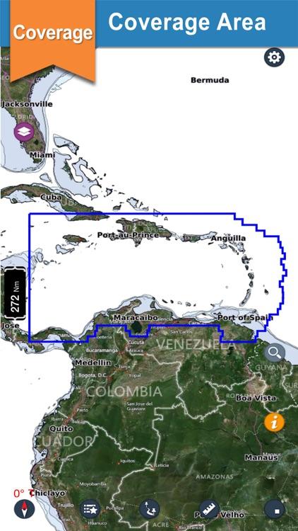 Caribbean Sea fishing charts