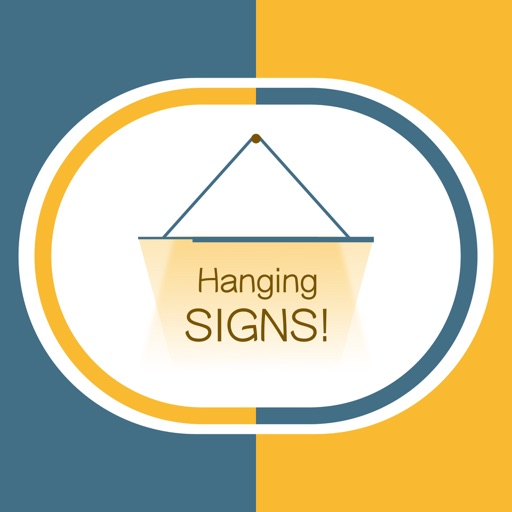Hang a Sign! (Dull Blue/Yellow)
