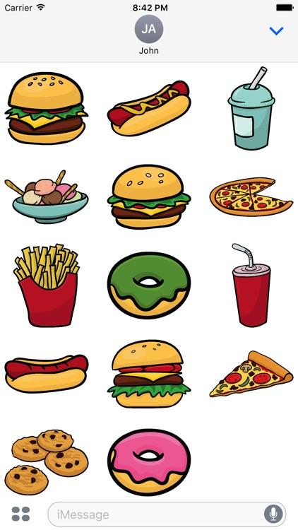 Junk Food Sticker & Emoji Pack for iMessage