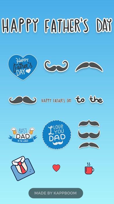 I Love My Dad Stickers