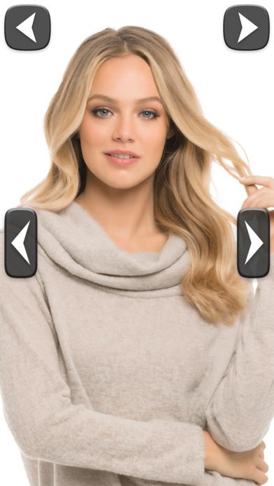 Estilista cabello probar peinados nuevo estiloCaptura de pantalla de3