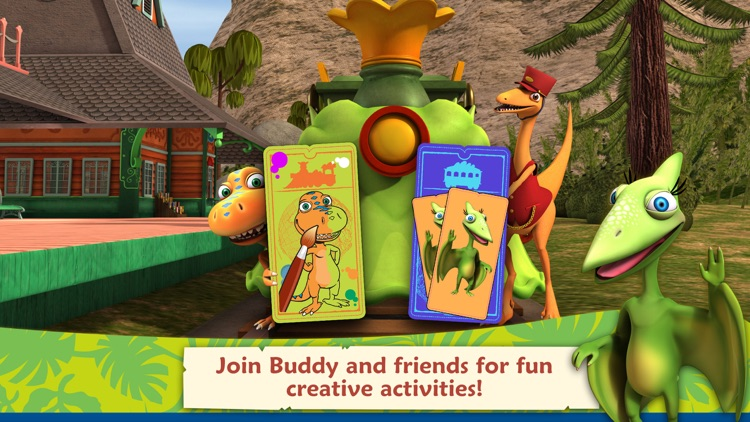 Dinosaur Train: Paint and Match screenshot-0