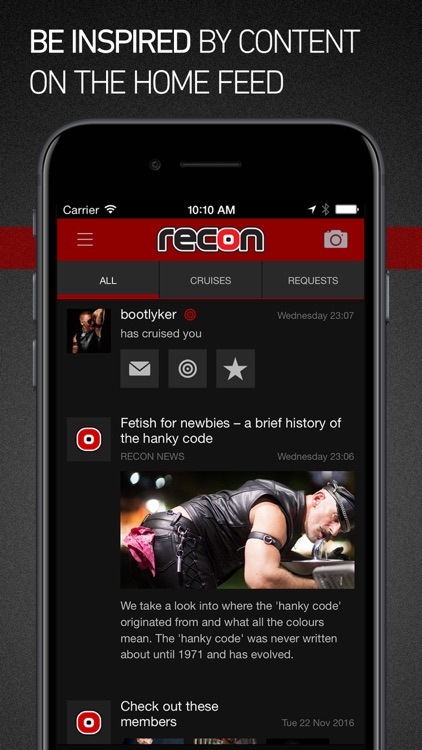 Recon - gay fetish profiles. Men, leather and more