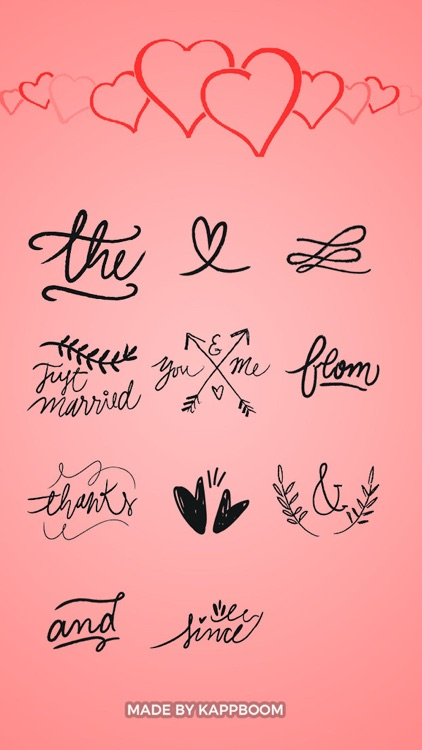 Wedding Phrase Stickers