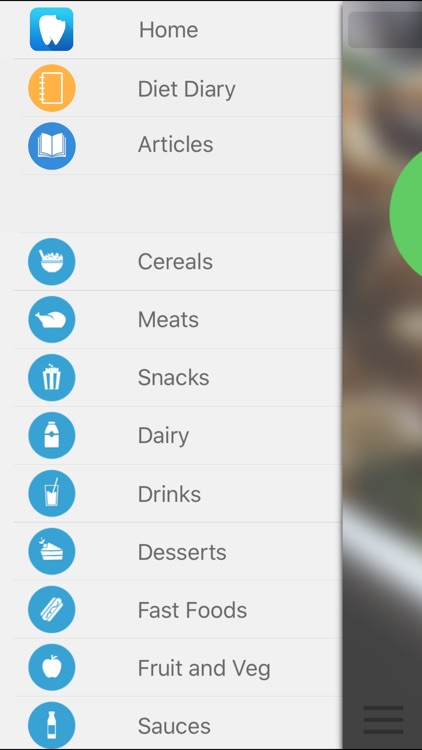 FoodForTeeth - Food Database and Diet Diary