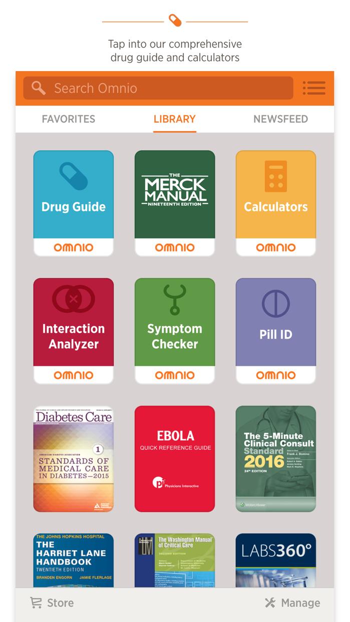 Omnio: Clinical Resource Screenshot