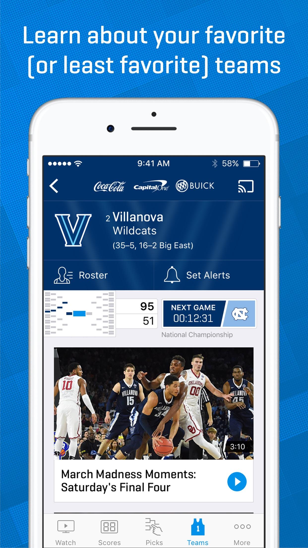 NCAA March Madness Live - Men's College Basketball screenshot-4