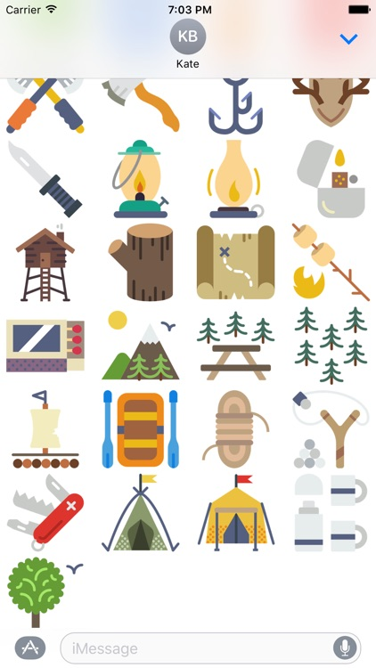 Outdoors Stickers - for Messages