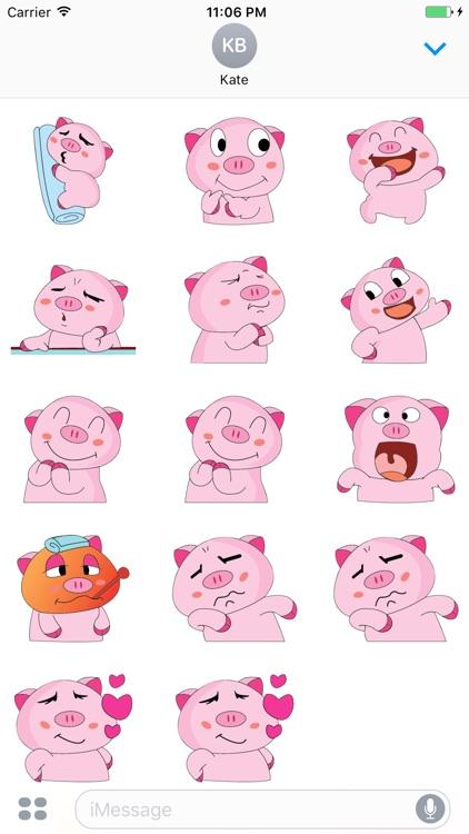 Cutest Funny Pig Sticker screenshot-3