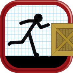 Cartoon Stickman: Jump And Run On Road