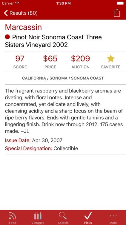 Wine Spectator WineRatings+ app image