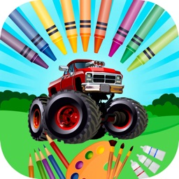 Coloring page- monster truck for kids