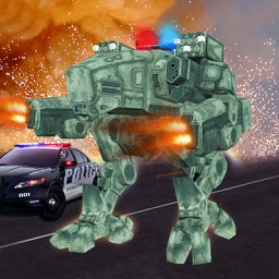 Future Cops Bot Fighting Crime: Robot Battle Game