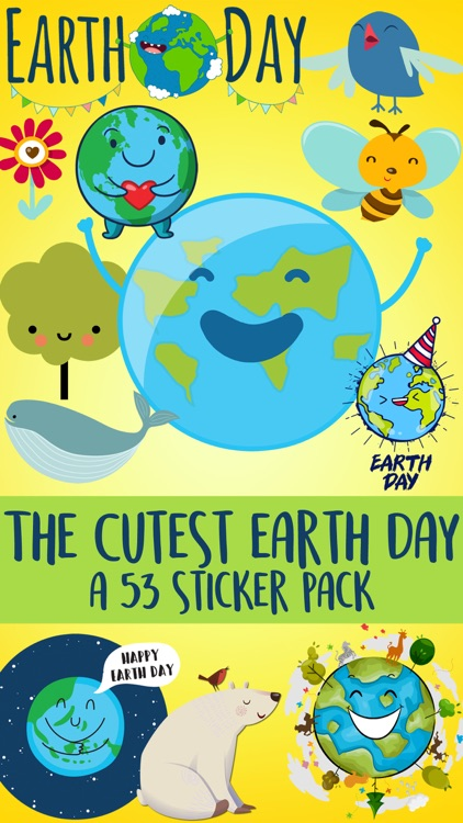 The Cutest Earth Day Sticker Pack