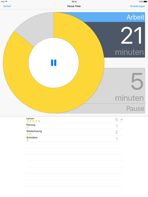 Screenshot #1 for Focus Time Activity Tracker