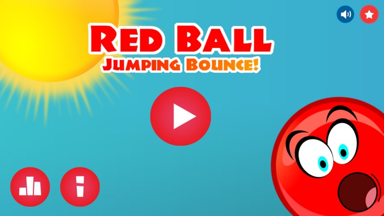 Red Ball Jumping Bounce