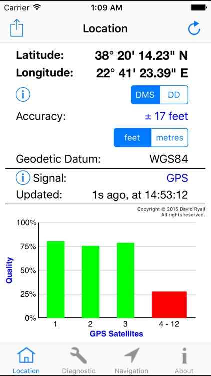 GPS Diagnostic: Satellite Test screenshot-0