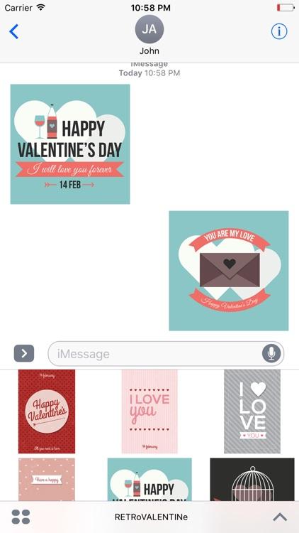 Animated Retro Valentine's Day Stickers screenshot-3