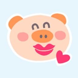 Piggy Smile Animated Stickers