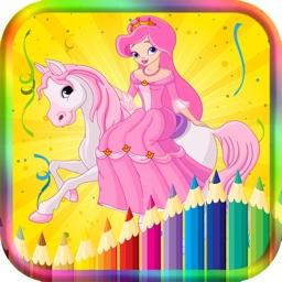 Coloring Book Princess Game for Kids