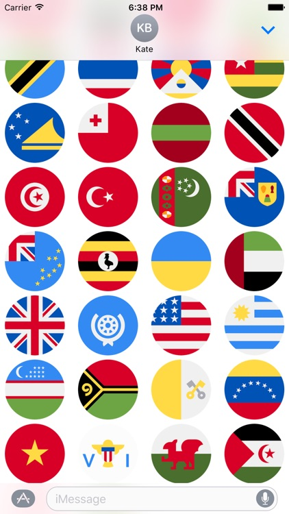 Flags Stickers -New Emoji for Texting in iMessage