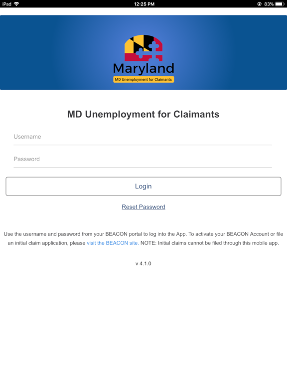 iPad Image of MD Unemployment for Claimants
