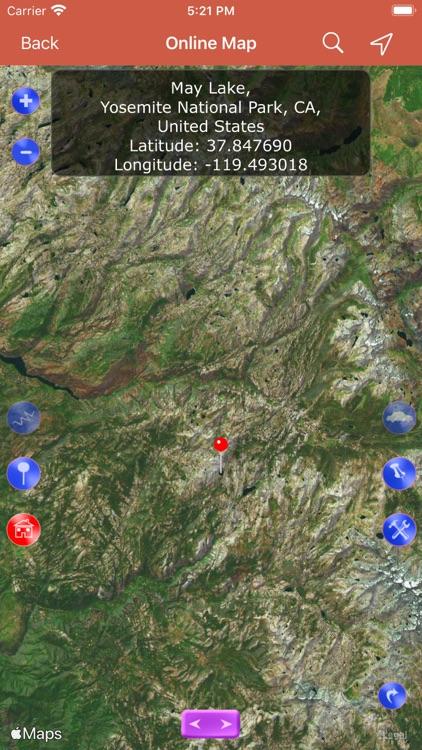 Yosemite National Park Map, CA screenshot-5