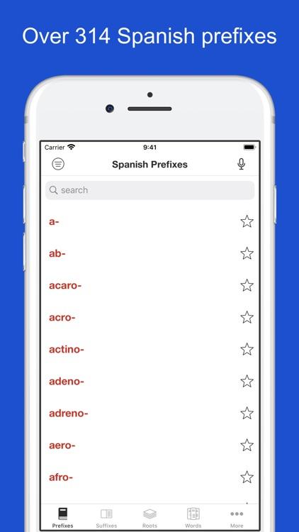 Spanish Word Parts
