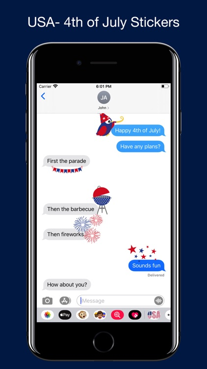4th of July Stickers. screenshot-3