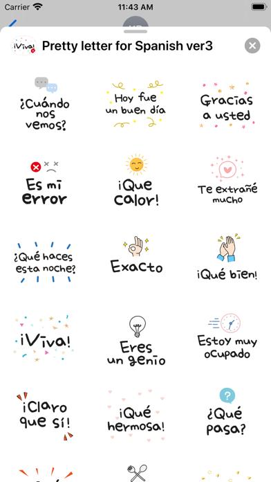 Pretty letter for Spanish ver3 screenshot 3