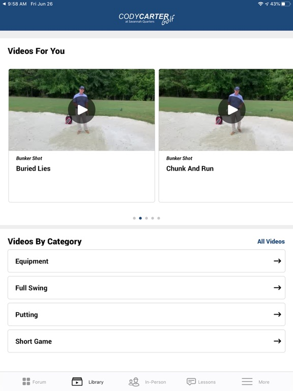 Cody Carter Golf screenshot 6