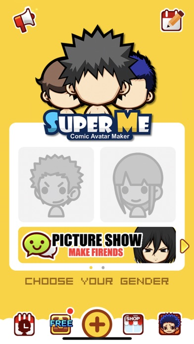 Screenshot #1 pour SuperMe-Cartoon Avatar Maker