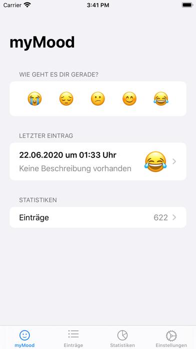 myMood: StimmungstagebuchScreenshot von 1