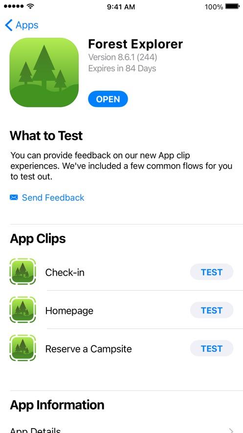 TestFlight App 截图