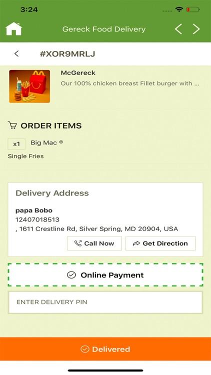 Gereck Food Delivery screenshot-4