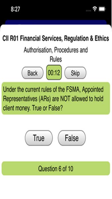 R01 Fin Services Regs & Ethics screenshot 5