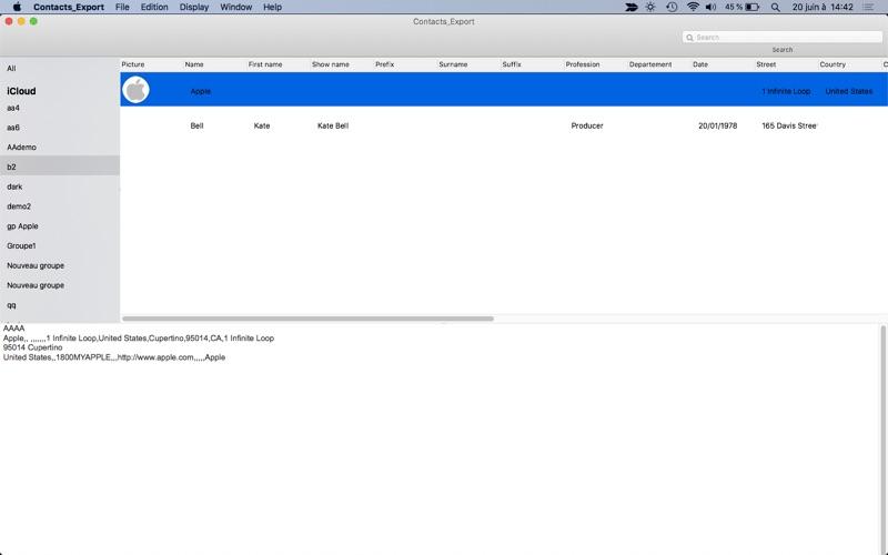 Contacts_Export скриншот программы 1