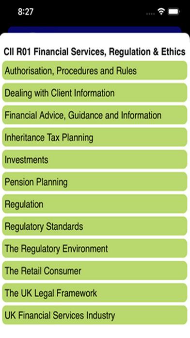 R01 Fin Services Regs & Ethics screenshot 2