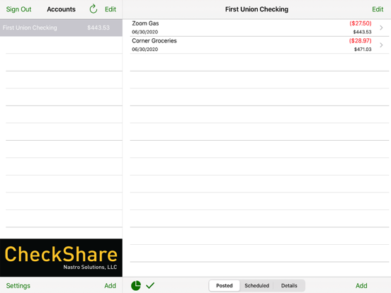 CheckShare Screenshots
