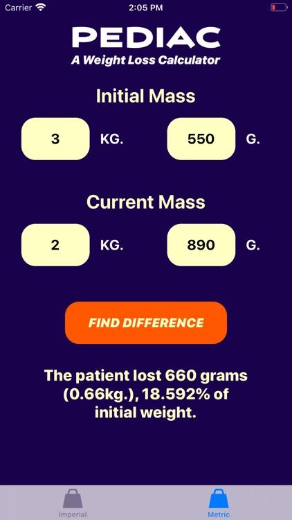 Pediac Weight Calculator screenshot-6