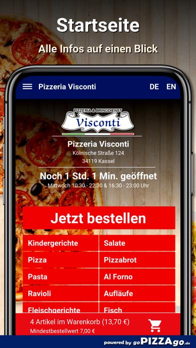 Visconti Kassel Lieferservice screenshot 2
