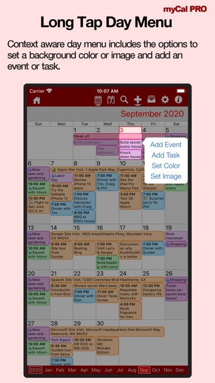 Events & Diary: myCal PRO screenshot-3