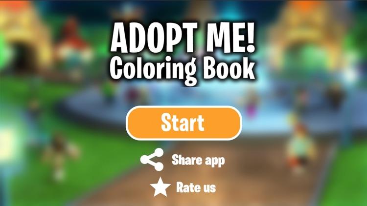 Adopt Me - Pets Coloring Book