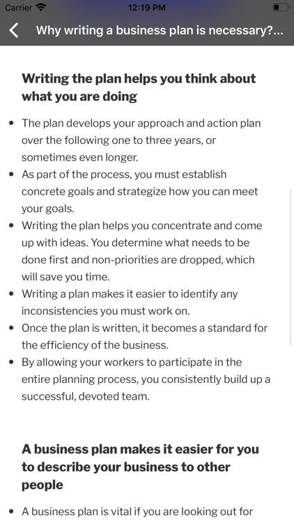 Business Plan Startup Guide screenshot-3