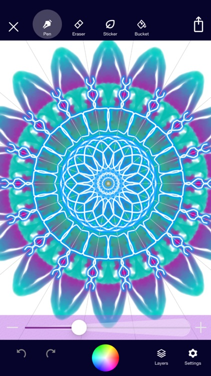 Mandala Maker: symmetry doodle screenshot-1