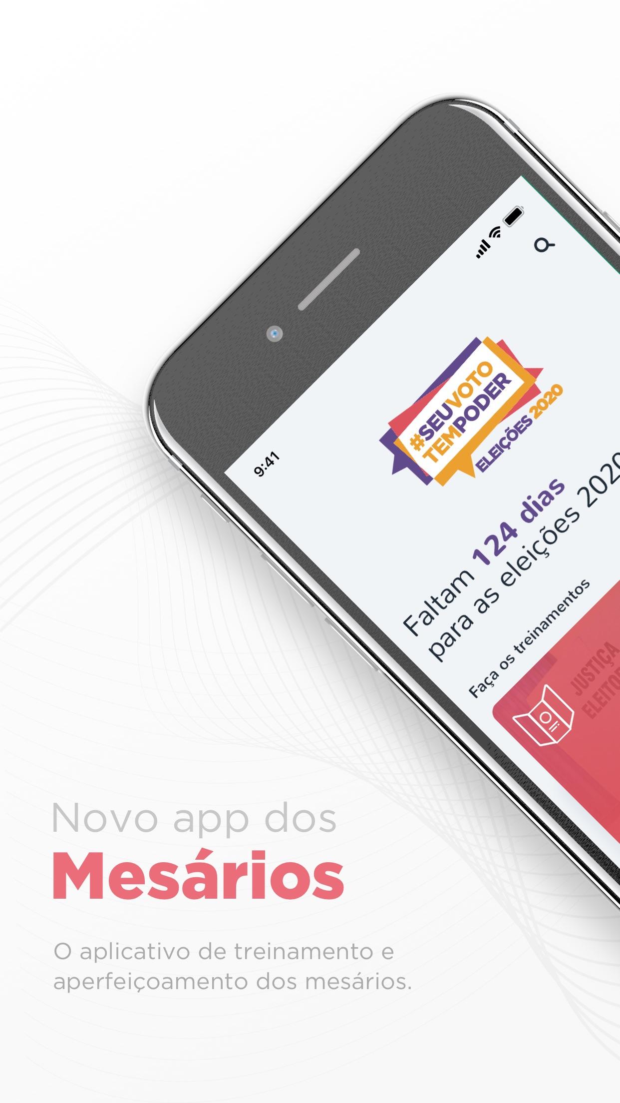Screenshot do app Mesário